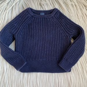 Baby GAP Unisex Toddler Cable Knit Blue Sweater